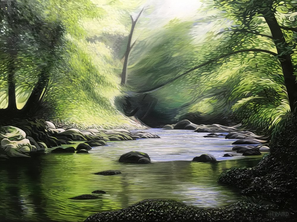 'The Green Glade' - Oil on canvas    Price on   Application