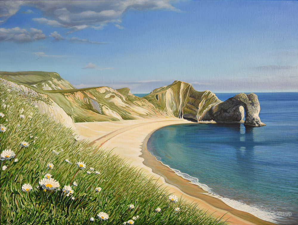 Durdle Door - Price on applicationOil on canvas45.6cm x 60.8cmFramed