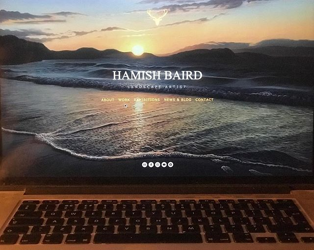 'Last of the Light' becomes the new front page to my website: www.hamishbaird.com #hamishbaird_painting #hamishbaird #sunset #dorsetartist