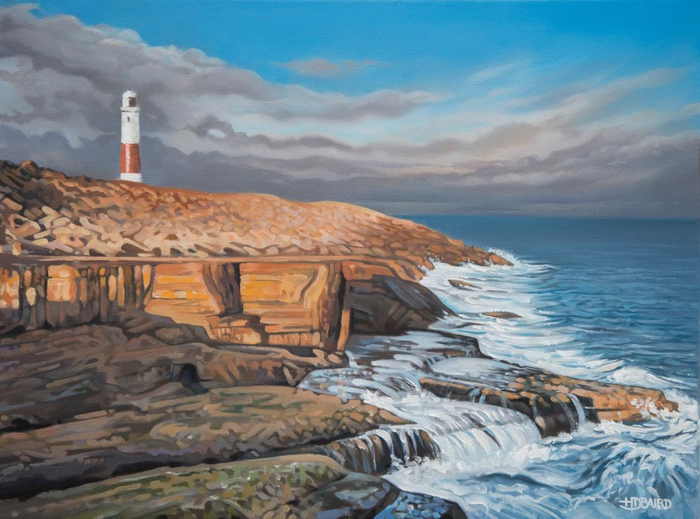 Portland Bill - Price on applicationOil on canvas30.5cm x 40.6cmUnframed