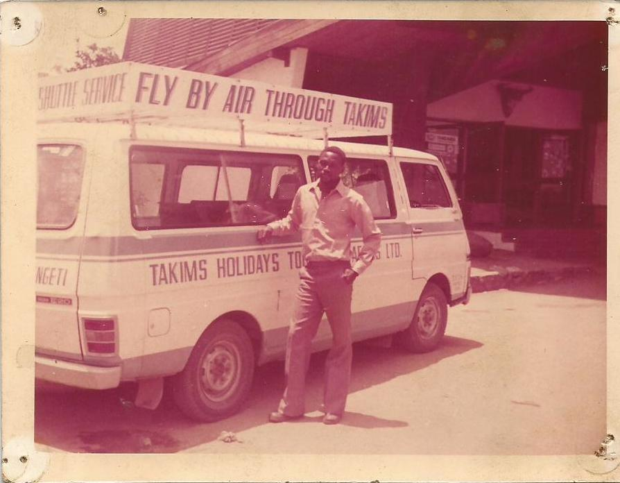 1982:  The first airport shuttle in Dar es Salaam