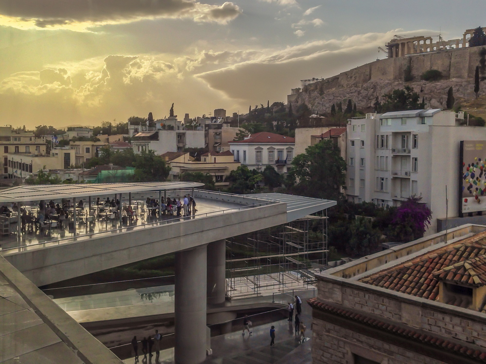 Acropolis from the museum, Athens, Greece