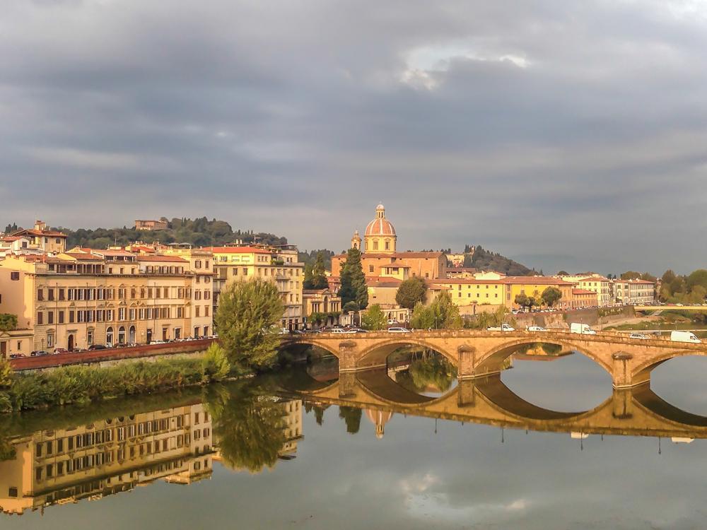 Ponte alla Carraia at Florence, Italy