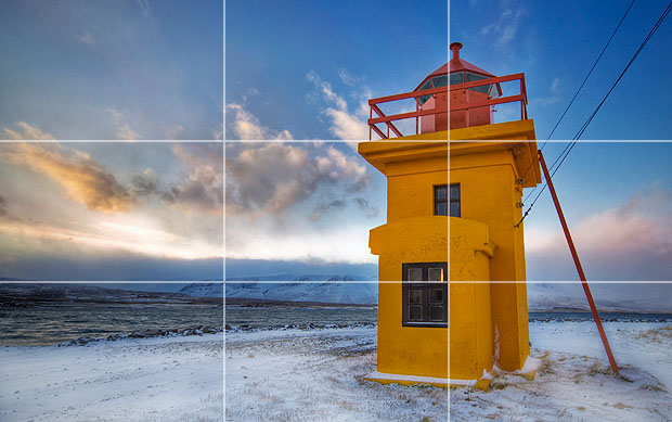 Notice how the building and horizon are aligned along rule-of-thirds lines. Image by Trey Ratcliff.