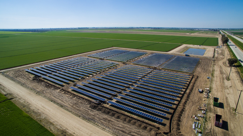 DeJong Dairy Pacific Solar Fresno during Installation