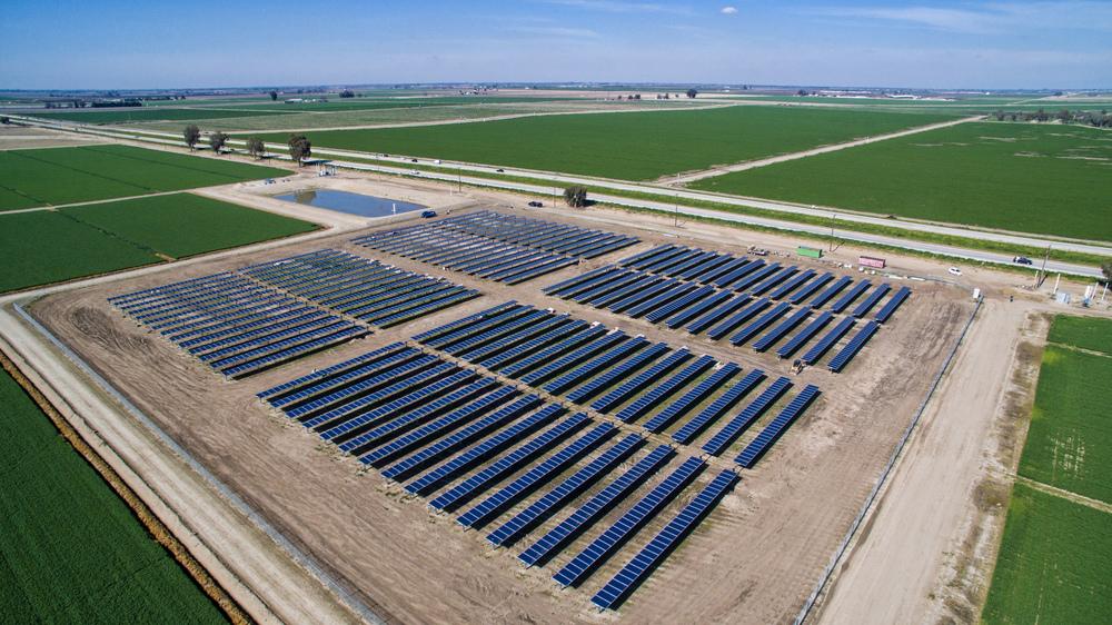 Jack DeJong Dairy Megawatt Pacific Solar Installation
