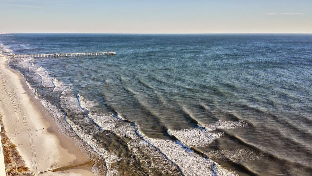 Panama City Beach, FL.  Looking east towards Pier Park. (c) Larry Kelly, 2015