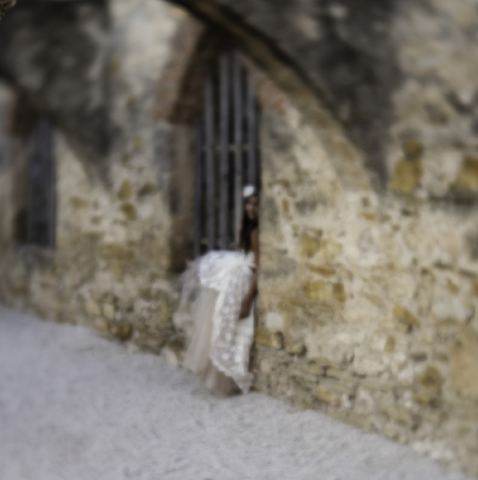 """The Girl in the Dream"" (c) Rebecca LaChance, 2015. Mission San Jose, San Antonio, TX. This is the result of my ""turn-around"" from the direction all the other photographers were shooting. An interesting dichotomy evolved around this image. Photographers all said, ""Oh, how beautiful"".  Anyone who was NOT a photographer said, ""Oh...""   (Insert giant belly laugh here)"