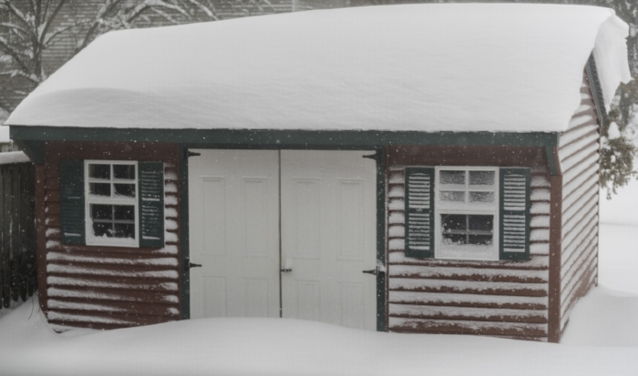 I love how the snow has drifted along the edges of the roof on the shed. (c) Rebecca LaChance, 2016, Thurmont, MD.