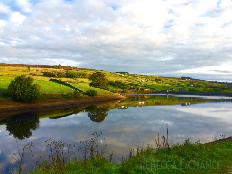 """Sunrise at the Ponden Reservoir"" (c) Rebecca LaChance, 2016. Haworth, England. There's just something iconic about the English countryside. The Hubster has dubbed this image as ""living room worthy""."