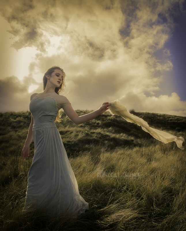 """Wuthering Heights -the Depths of Drama"" (c) Rebecca LaChance, 2016. Compelling Portraiture with Carolyn Mendelsohn. Model: Ella McNeil, HMUA: Lauren Rippin, Styling: Caroline Brown. Location: The moors of Haworth, England. The inspiration for this image was an idea held in my imagination for months."