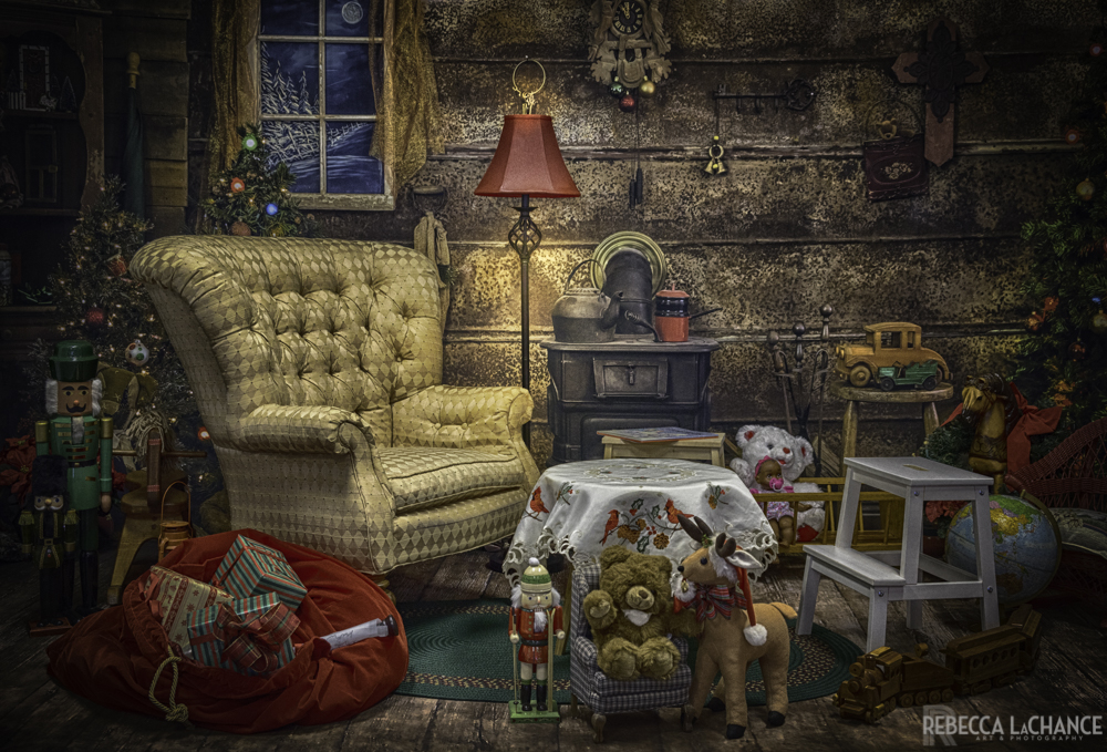"""Santa's living room the night before Christmas"" (c) Rebecca LaChance, 2017. Thurmont, MD"