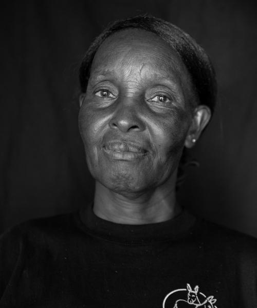 Rosina Solo, Basket Weaver, Katanga Women's      Cooperative, Yatta