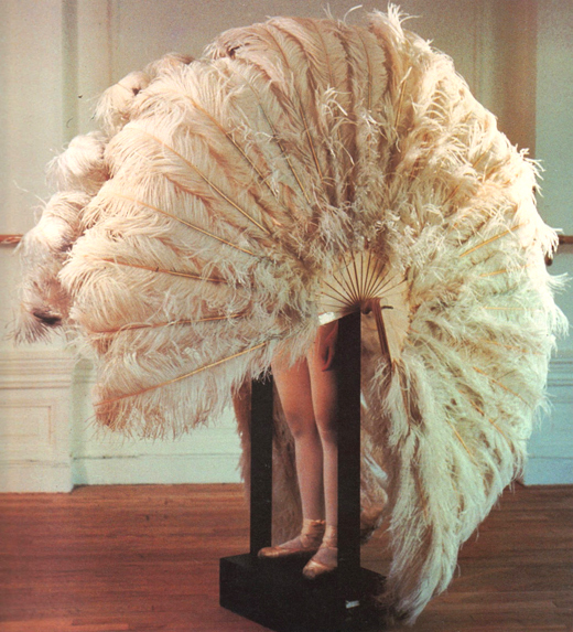 valentrinatapia :     not now, I'm busy   (Rebecca Horn, The Feathered Prison Fan , 1978)