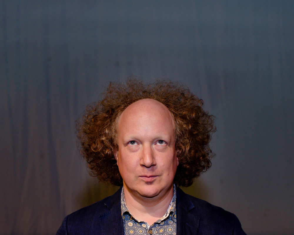Comedian Andy Zaltzman at the Udderbelly, London