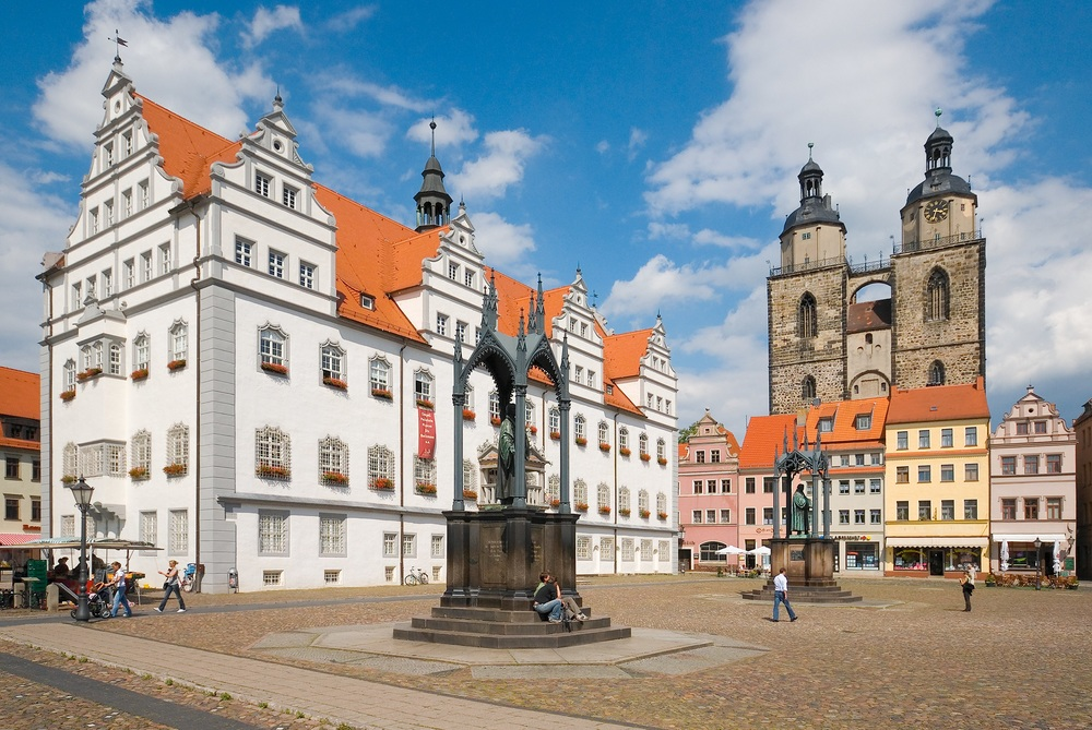 Luther Monument & Stadtkirche, Wittenberg