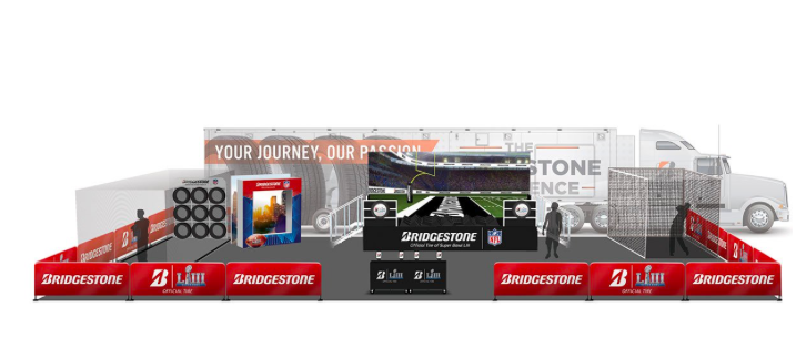 Bridgestone are inviting fans to show off their catching skills on their performance field. Visitors can catch a pass from current NFL players and NFL Legends during multiple sessions throughout the week leading up to the game