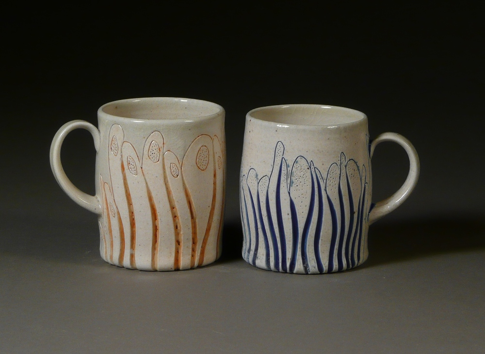 Striped porcelain pair