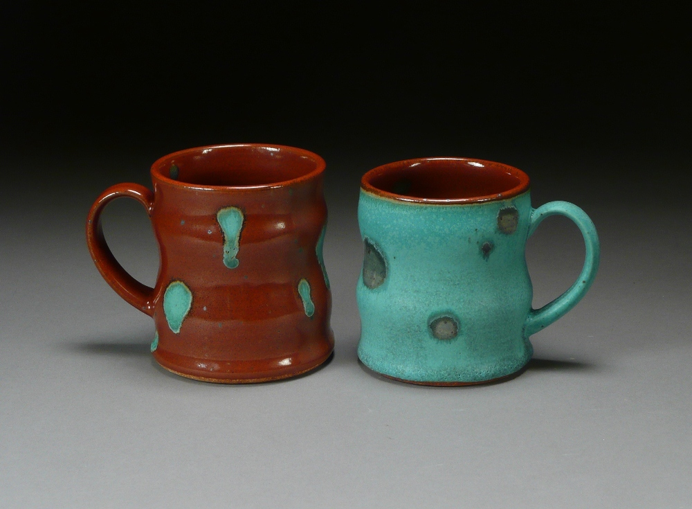 Copper and khaki coffee pair