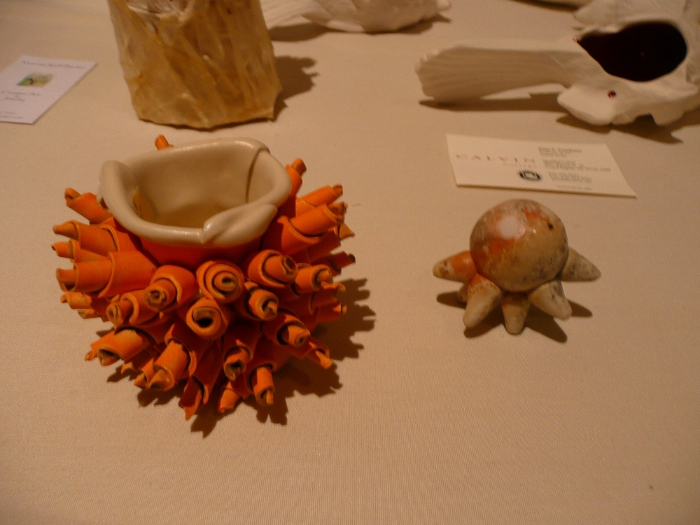 Left next to my friend Jennifer Hill's sweet little cup at the Regina Brown Cup Show