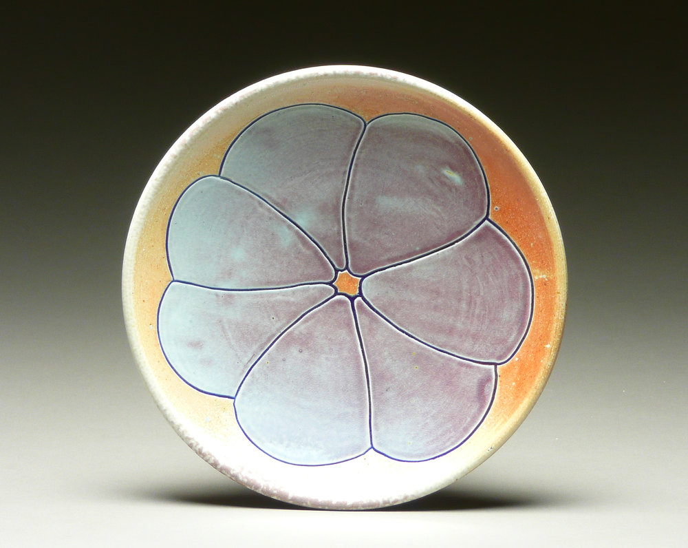 Blue Poppy Plate