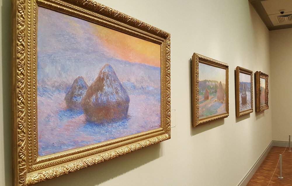 Any time I'm in Chicago I have to visit the Art Institute. I grew up on these paintings, and sometimes I take for granted how amazing these haystacks by Monet really are.