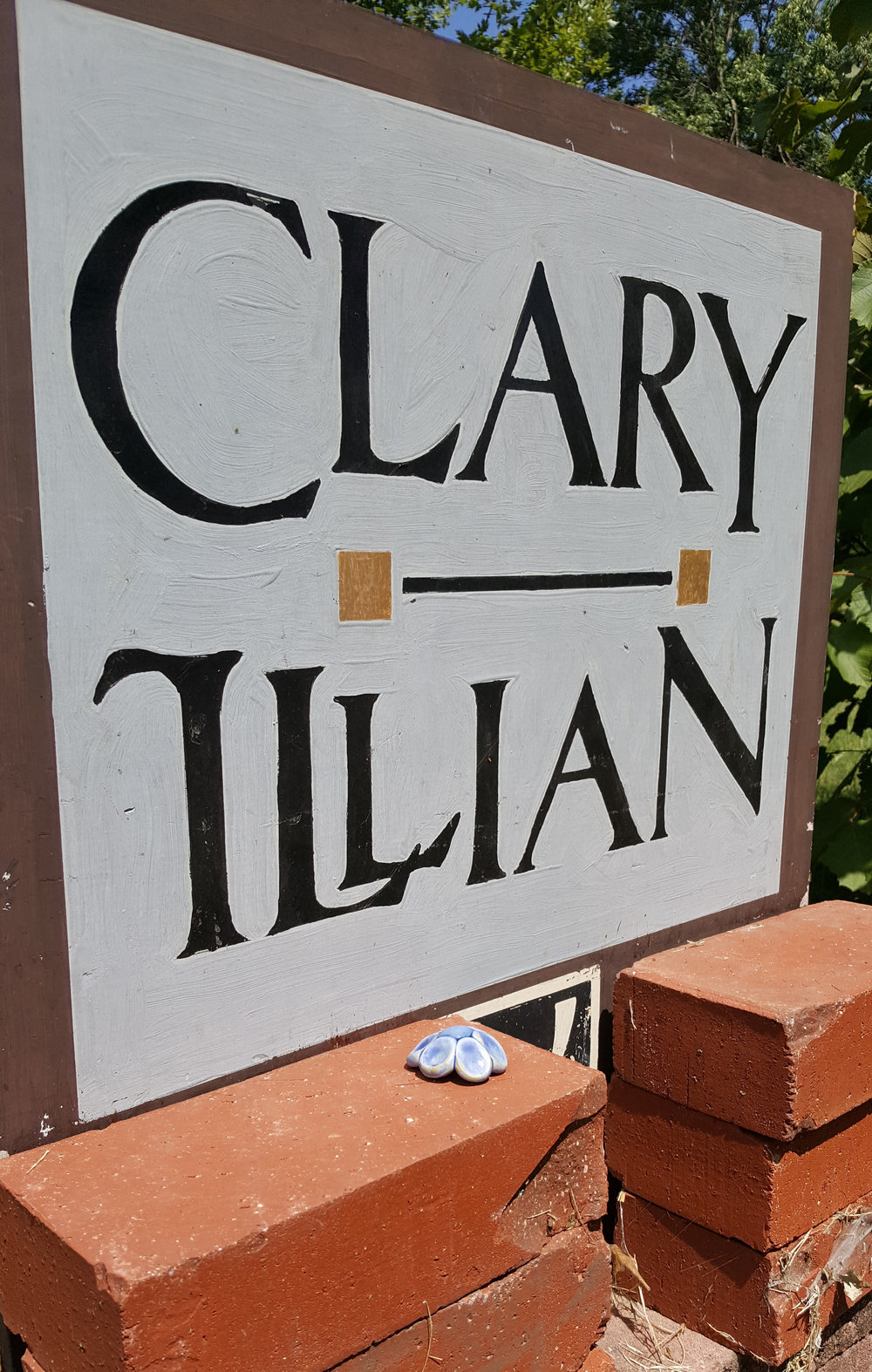 We got to visit  Clary Illian 's studio and home. I was 100% a total pottery fangirl.