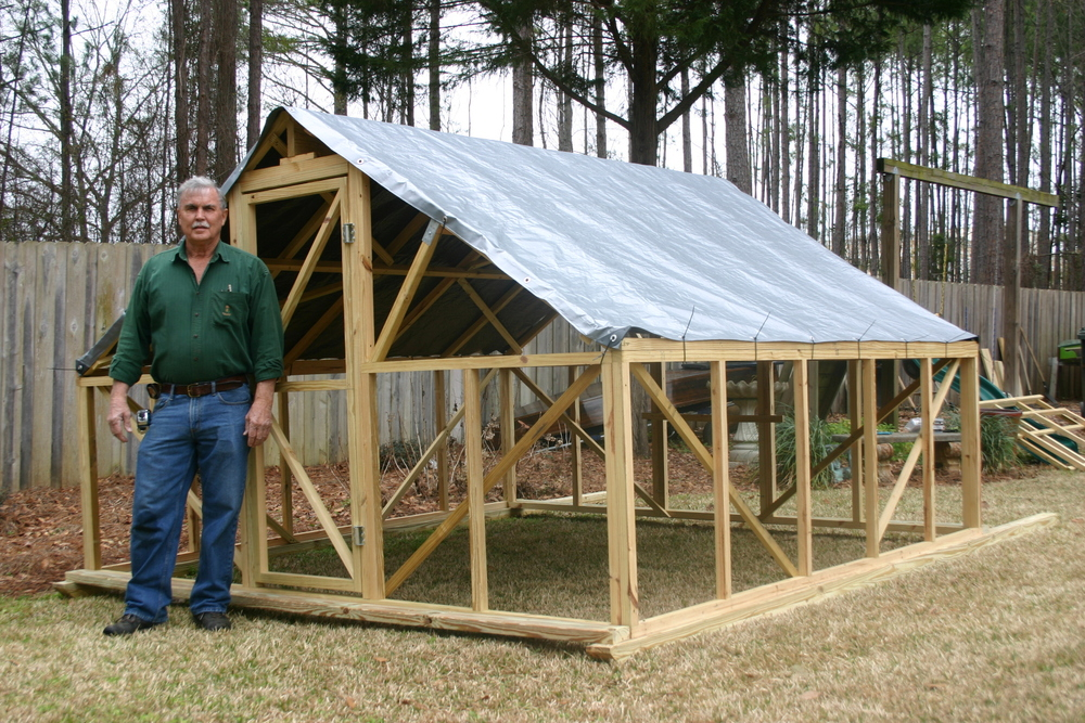 Pastured Poultry Hut, created by William Shirling, will be on display Saturday at Gaucho Farms.
