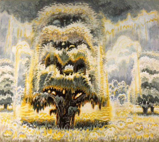 Summer Solstice (In Memory of the American Chestnut Tree), 1961-66; watercolor on paper, 54 x 60 inches