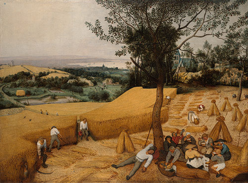 The Harvesters , 1565, Pieter Bruegel the Elder (Netherlandish, ca. 1525–1569), Oil on wood