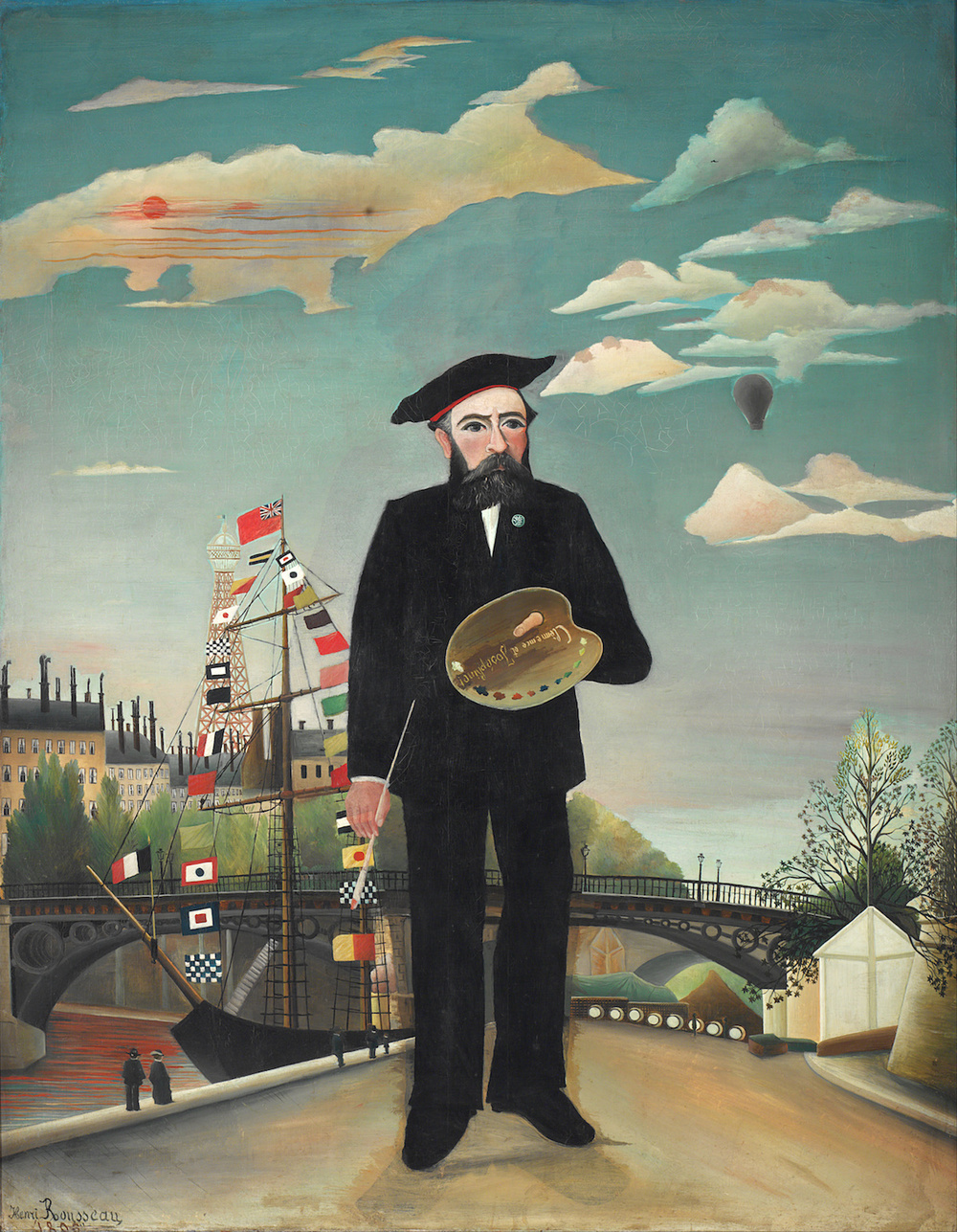 Henri Rousseau,  Myself, Portrait-Land  scape  (1890)
