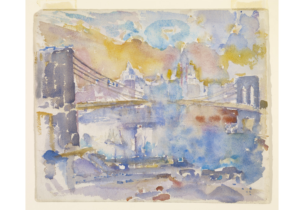 John Marin, Brooklyn Bridge, 1912