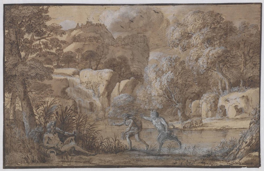 Claude Lorrain,  Landscape with Pan and Syrinx , 1656