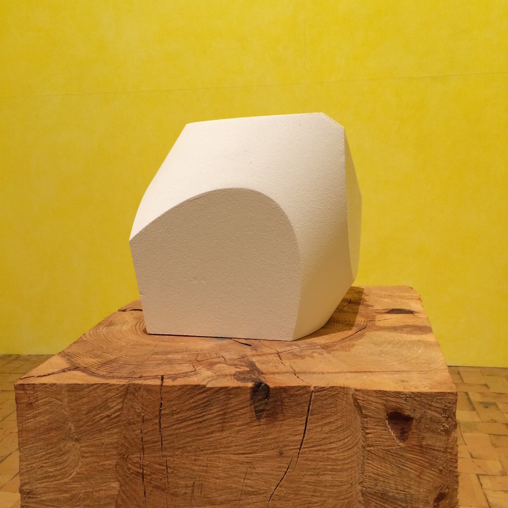 Gnou, Verona, 2015, polystyrene and plaster model, 41 x 41 x 46.5 cm