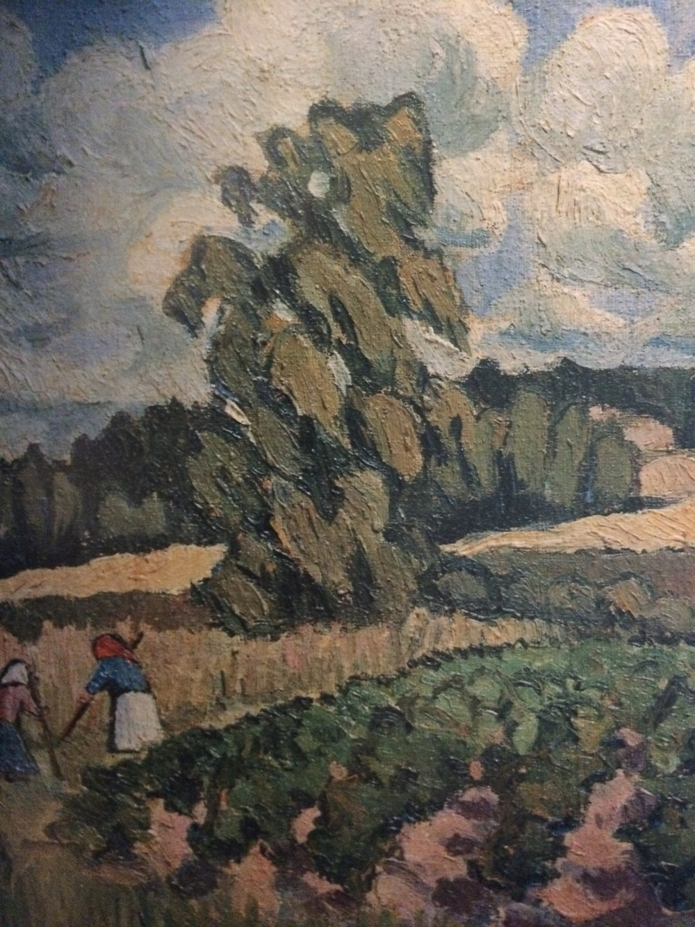 Landscape with Female Figures (detail), 1908, oil on canvas, 13 6/8 x 17 1/8 inches. Private Collection, Moscow.