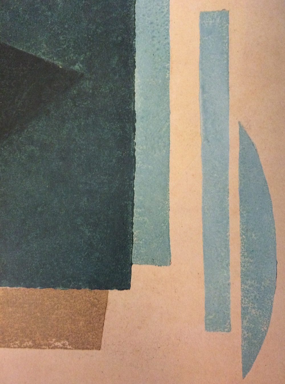 Plate from 6 Prints (detail), 1917, color linocut, 13 3/4 x 10 1/4 inches.