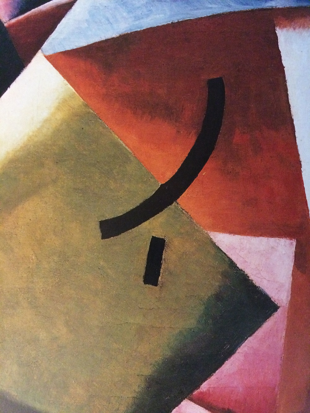 Painterly Architectonics (detail), 1918, oil on canvas, 22 7/8 x 22 1/8 inches, Costakis Collection, Athens.