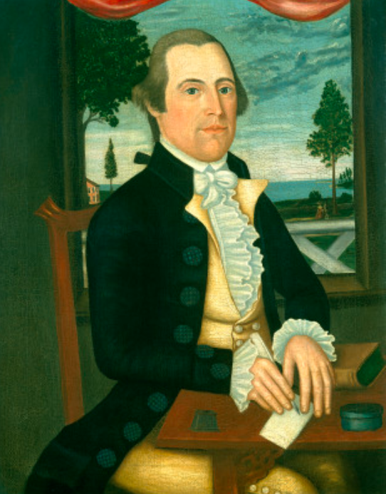 Captain Elisha Denison c. 1790 Oil on canvas, 86.4 x 68.9 (34 x 2.7 Vs) Gift of Edgar William and Bernice Chrysler Garbisch