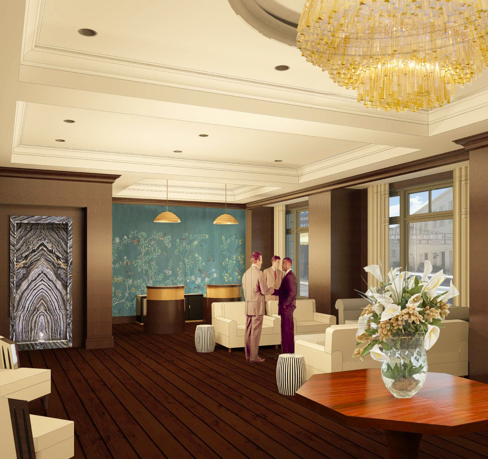 This is another view of the lobby just to the right of the front door.