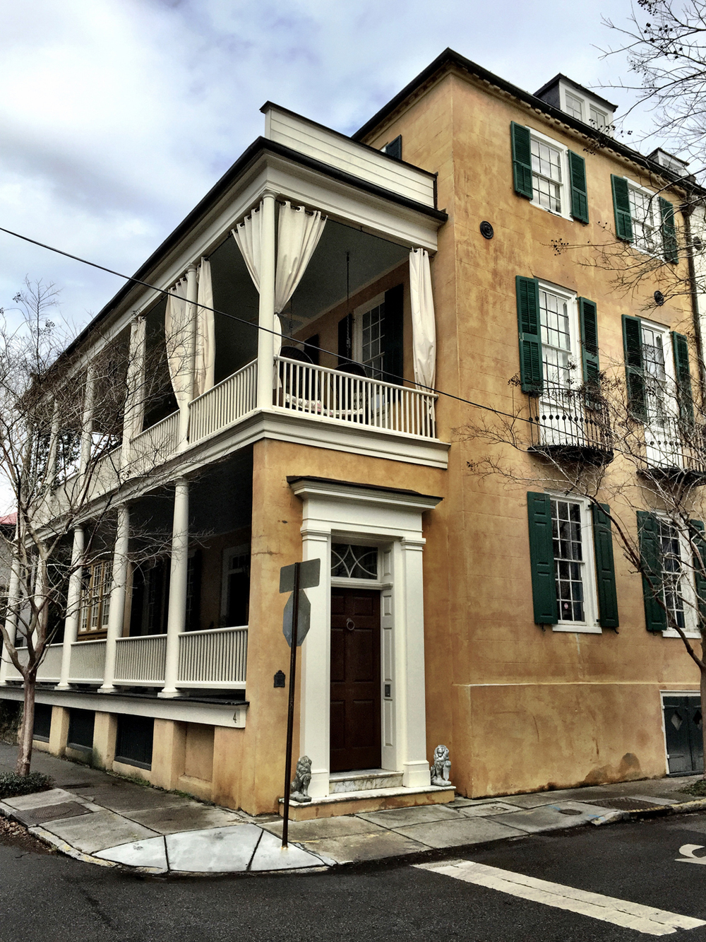 South of broad buildings are cool for Charleston single house