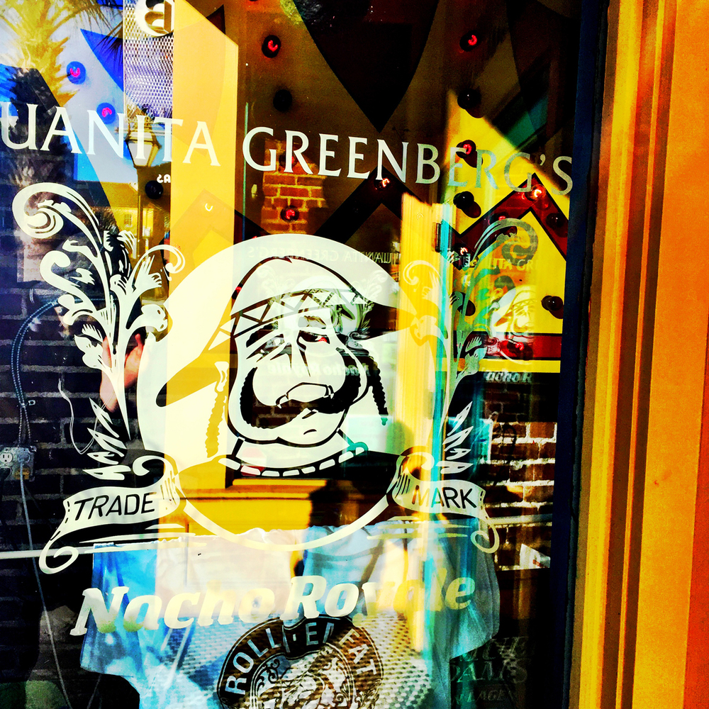 White graphics on glass just seems to work every time.  I have heard that Juanita's has the best chips, salsa and Margaritas. Wait.....that's every Mexican restaurant.