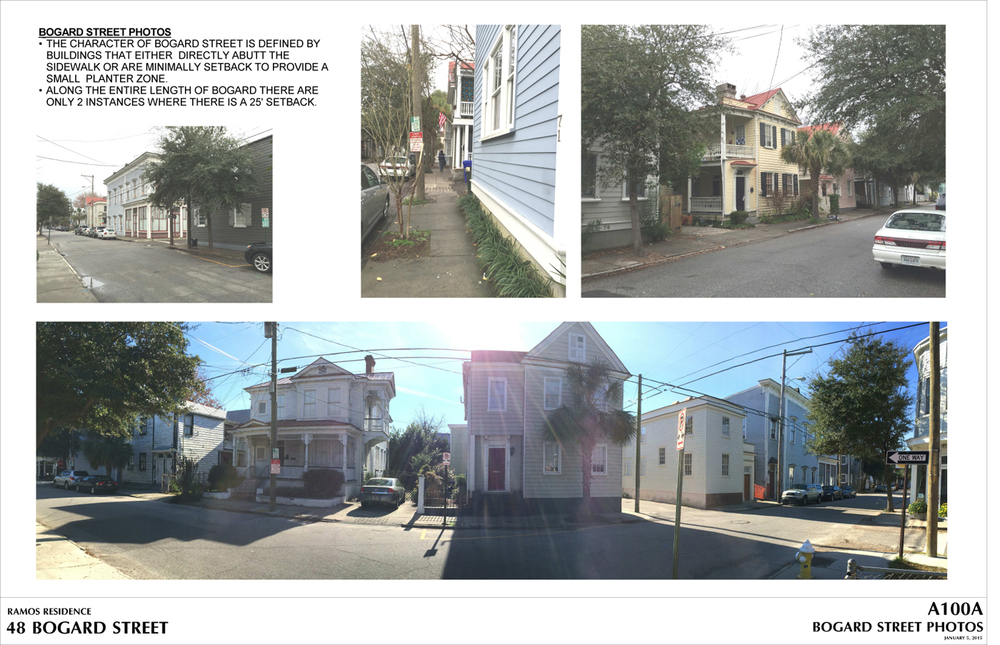 These photos of the existing neighborhood illustrate that it is very common for the buildings to be directly against the sidewalk.