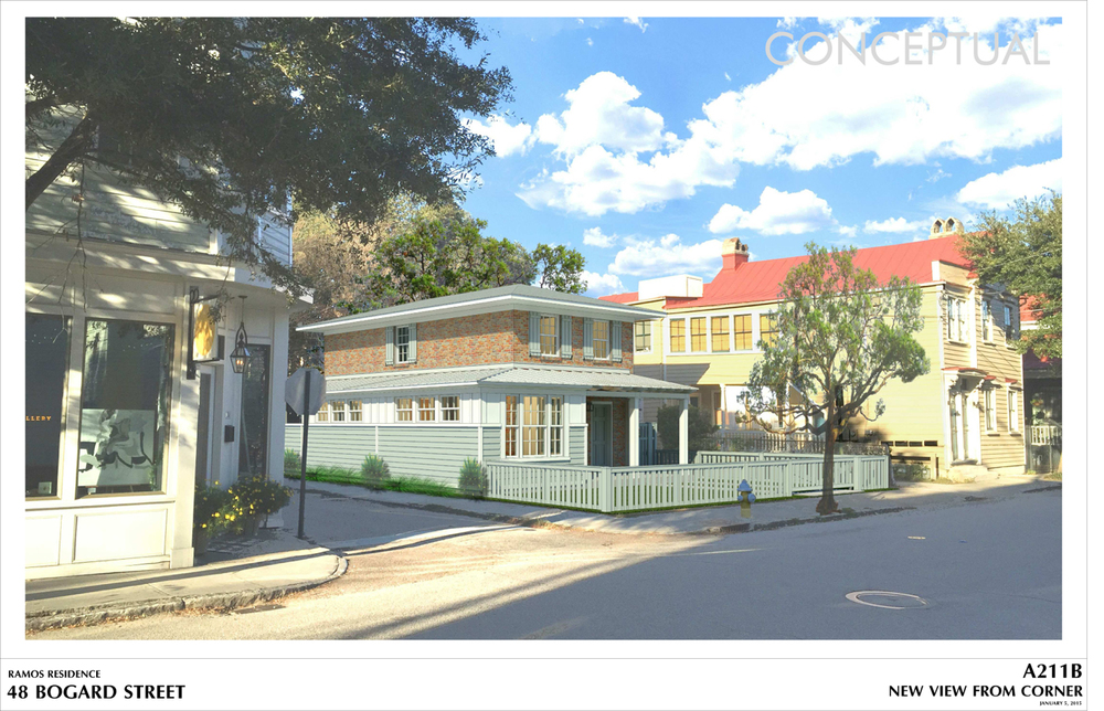 Although zoning is not about aesthetics.  I included some nice renderings of the design to help sweeten the deal.