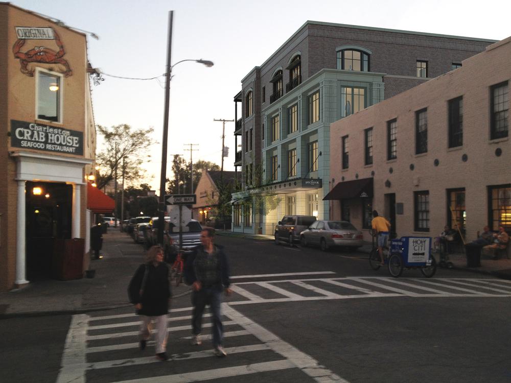 Rendering from Market Street.