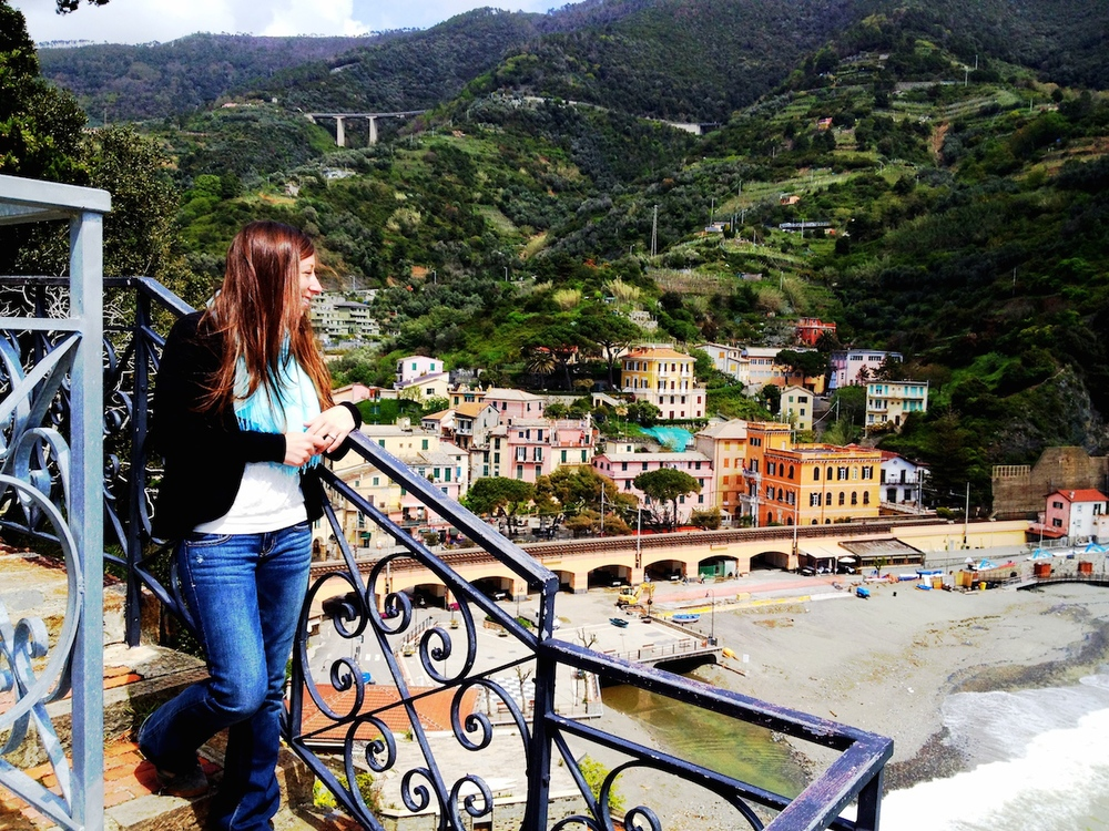 The town in the background is Monterosso al Mare