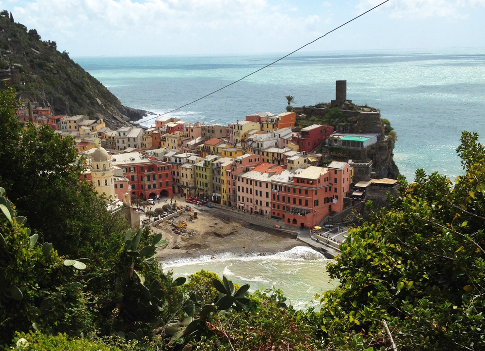 The town below is Vernazza
