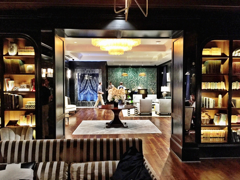 A view of the lobby from the lounge.