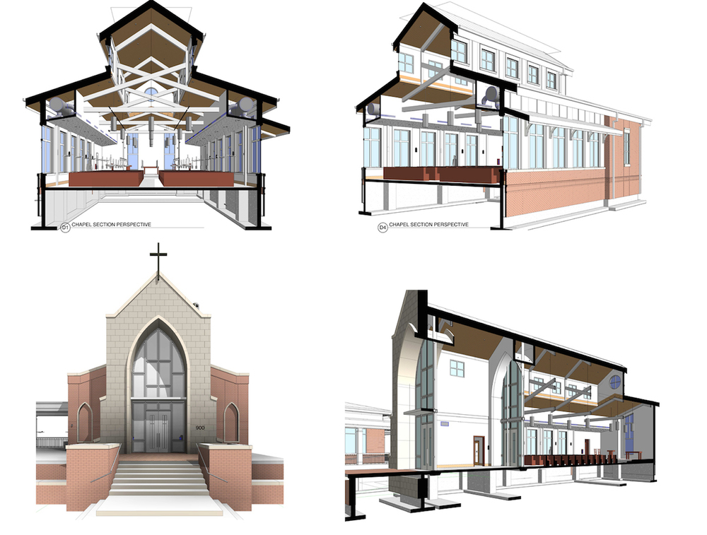 Further refined images of the Revit model.