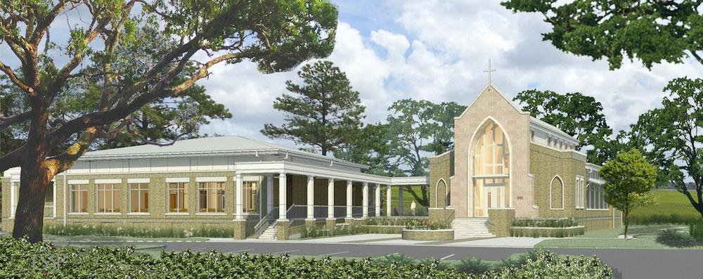 The final rendering of the chapel.