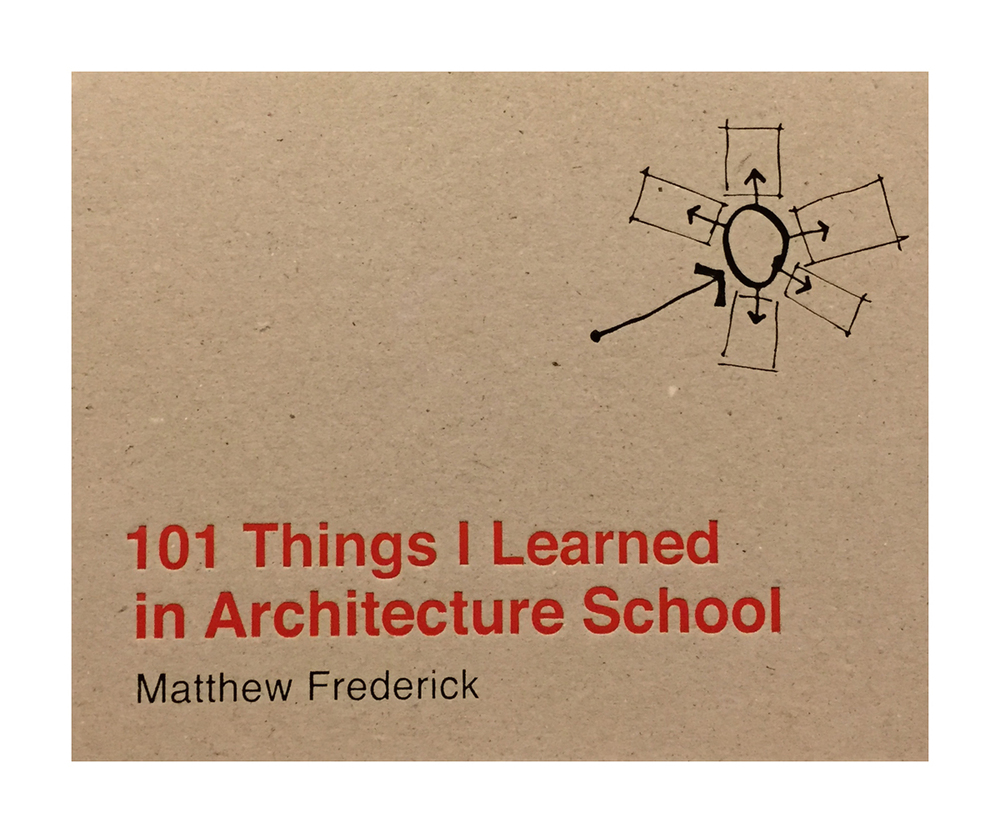 101 Things I Learned in Architecture School: Book Review